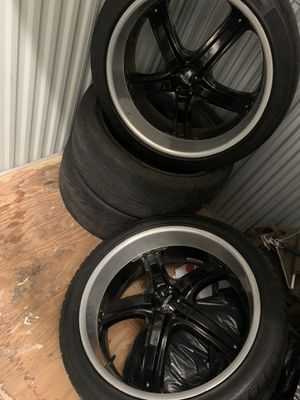 "24"" BOSS Rims black with 4"" chrome lip for Sale in Los Angeles, CA"