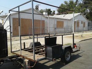 trailer with metal rack frame. traila con marco de hierro for Sale in Sylmar, CA