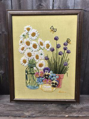 Vintage Handmade Crewel / Cross Stitch for Sale in Costa Mesa, CA