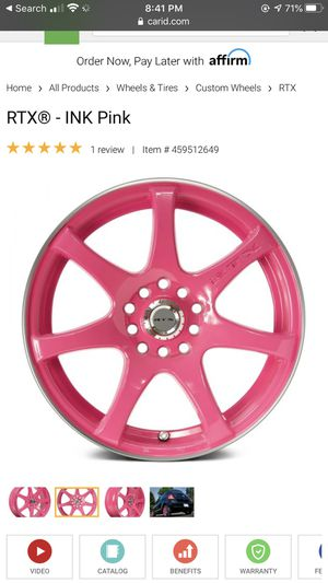 "RTX 16"" pink rims for Sale in Rochester, NY"