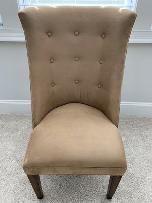 Barely used, suede dining room chairs (6) for Sale in Apex, NC
