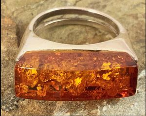 Modern Amber & Sterling Ring for Sale in Roswell, GA