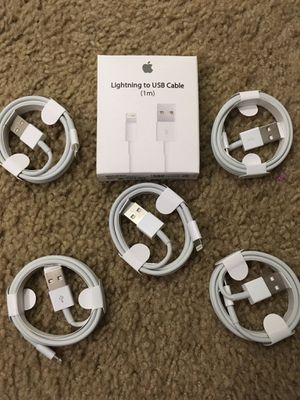 Ipad airpod iphone chargers 5 for 20$ 3 feet for Sale in Fontana, CA