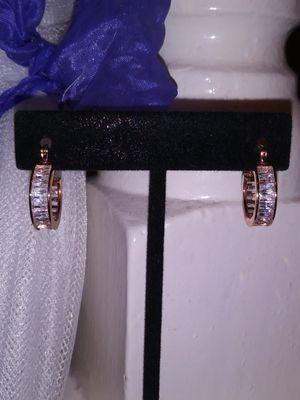 earrings with cubic zirconia for Sale in Whittier, CA