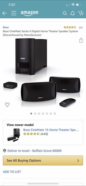 Bose cinemate ll for Sale in Buffalo Grove, IL