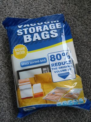 Vacuum Storage Bags Small 8 Pack for Clothes,Scarfs, for Sale in Denver, CO