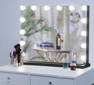 Hansong Large Vanity Makeup Mirror with Lights,Hollywood Lighted Mirror with 3 Color Lighting Modes for Tabletop Mirror or Wall Mounted,15pcs Dimmabl for Sale in Santa Monica, CA