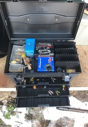 Boat tackle box full of never used lures for Sale in Martinsburg, WV