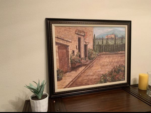 Wall art painting framed