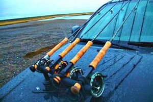Magnetic Fishing Rack | Hood Mount | Sportube put anywhere on your car! Great Fathers Day Gift! for Sale in Sandusky, OH