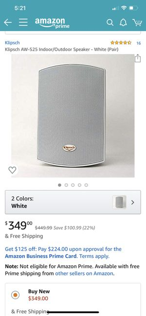 Klipsch AW-525 speakers for Sale in Portland, OR