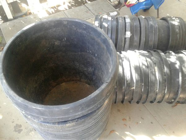 56- 15gallon pots or planters. used