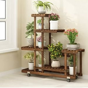 5 Tier Wooden Plant Stand Flower Stand Plant Display for Sale in Ontario, CA