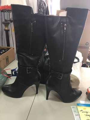 "*UPDATED PICS* ALMOST NEW NINE WEST ""LEATHER"" BOOTS for Sale in Fontana, CA"