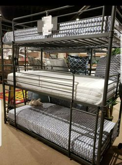 Industrial Twin Triple Bunk Bed $49 down payment... Prices in description 👇... Easy to apply on our website 📲💻👨💻👩💻 for Sale in Las Vegas,  NV