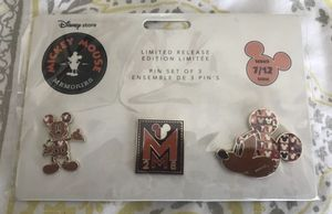 July Limited Release Pin Set Disney's Mickey Mouse Memories for Sale in Buena Park, CA