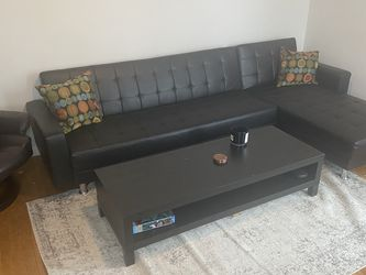 Black Sectional Sleeper Sofa for Sale in New York,  NY