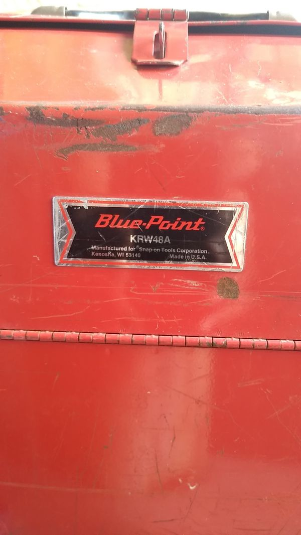 Blue point by snap on tools vintage tool box