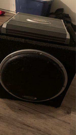 Subwoofer and amp for Sale in San Marcos, CA