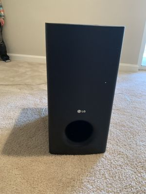 LG SB95SB-W Subwoofer Speaker for Surround Sound System, Black for Sale in Sterling, VA