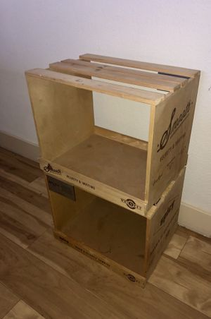 2 Super cool artsy craft wooden storage crates/shelves/or anything u can think to turn them into lol $10 each. Perfect condition! for Sale in Phoenix, AZ