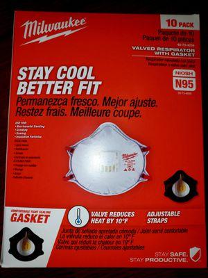 N95 Face Mask USA Milwaukee Respirator with Gasket NIOSH N95 Virus Mascara Tapa Boca for Sale in Fresno, CA