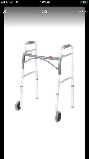 Drive Medical Two Button Folding Walker w/5 inch wheels for Sale in Temecula, CA