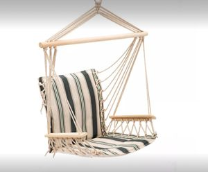 Hanging Rope Hammock Chair Swing Seat Outdoor Backyard Lawn Garden Yard Patio Porch Relax Lounge for Sale in Toledo, OH