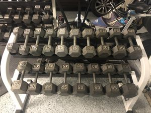 Dumbbells and Rack for Sale in Clermont, FL