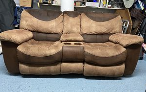 Electric reclining Microfiber with cup holders. for Sale in Miami, FL