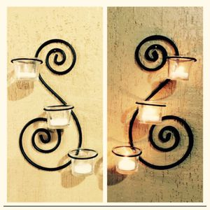 Wrought Iron Wall Sconces Set 2-Pc. for Sale in Mill Creek, WA