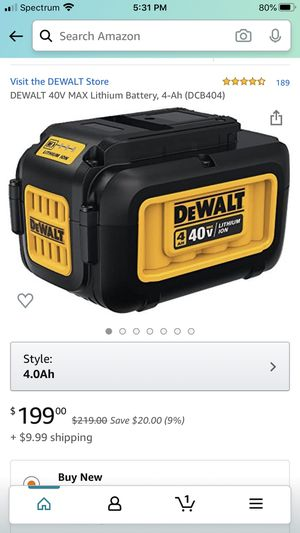 Dewalt 40volt . Two of them both fully charge and comes with charger. Pick up only for Sale in Brookfield, MA