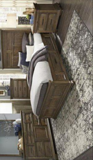 Narcine Rustic Brown Storage Platform Bedroom Set for Sale in Pflugerville, TX