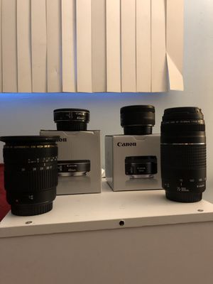Canon lenses (EF Mount) for Sale in Hazelwood, MO