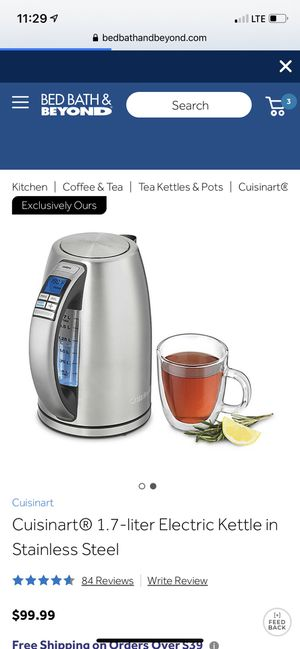 Cuisinart electric kettle in stainless steel for Sale in Queens, NY
