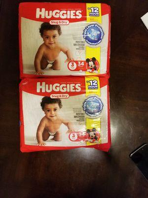Huggies snug & dry size 3 - 34 diapers for Sale in Germantown, MD