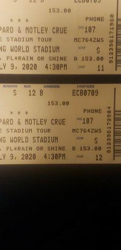 Motley Crue Stadium TOUR 2021 for Sale in Orlando,  FL