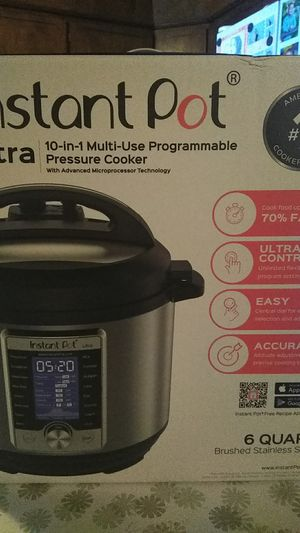 "Instant Pot ""Ultra"" Programmable Pressure Cooker for Sale in West Sacramento, CA"