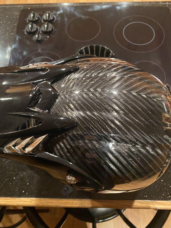 Carbon HJC XL Snowmobile Helmet