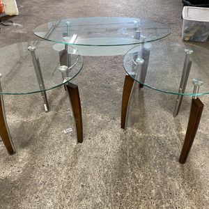 Coffee Leaving Room Table Set Glass Wood for Sale in Lynnwood, WA