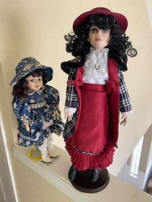"Three beautiful ""like new"" ceramic 16"" dolls for Sale in Chelan, WA"