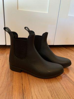 J Crew Chelsea matte rain boots size 7 for Sale in Seattle, WA