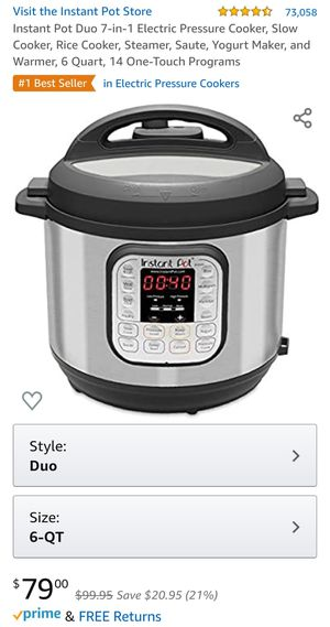 Instant Pot Duo 7-in-1 Electric Pressure Cooker for Sale in Mountain View, CA