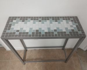 Modern Gray Teal Console Entryway Foyer Table for Sale in Coral Springs, FL