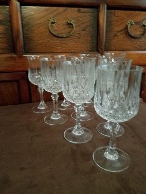 Crystal Glassware, Set of 10 for Sale in Escondido, CA