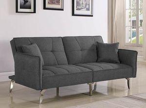 Contemporary Grey linen sofa bed futon for Sale in North Miami Beach, FL