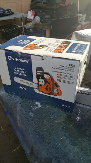 Husqvarna gas chainsaw 450e for Sale in Riverside, CA
