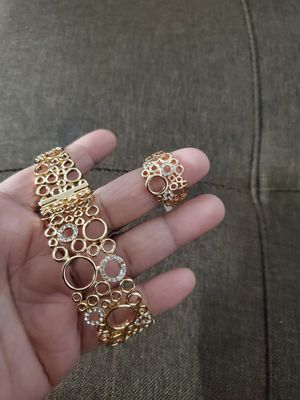 Plated bracelet and ring size 10 for Sale in Baltimore, MD