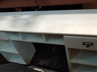 White wooden desk hutch Organizer for Sale in Lorton,  VA