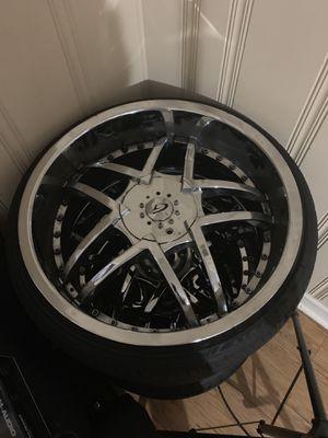 22 inch chrome wheel rims for Sale in Atlanta, GA